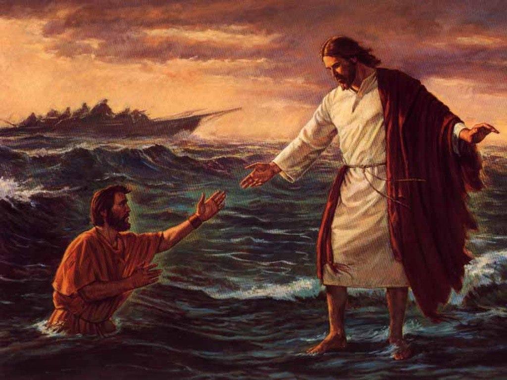 Картина Иисус и Петр