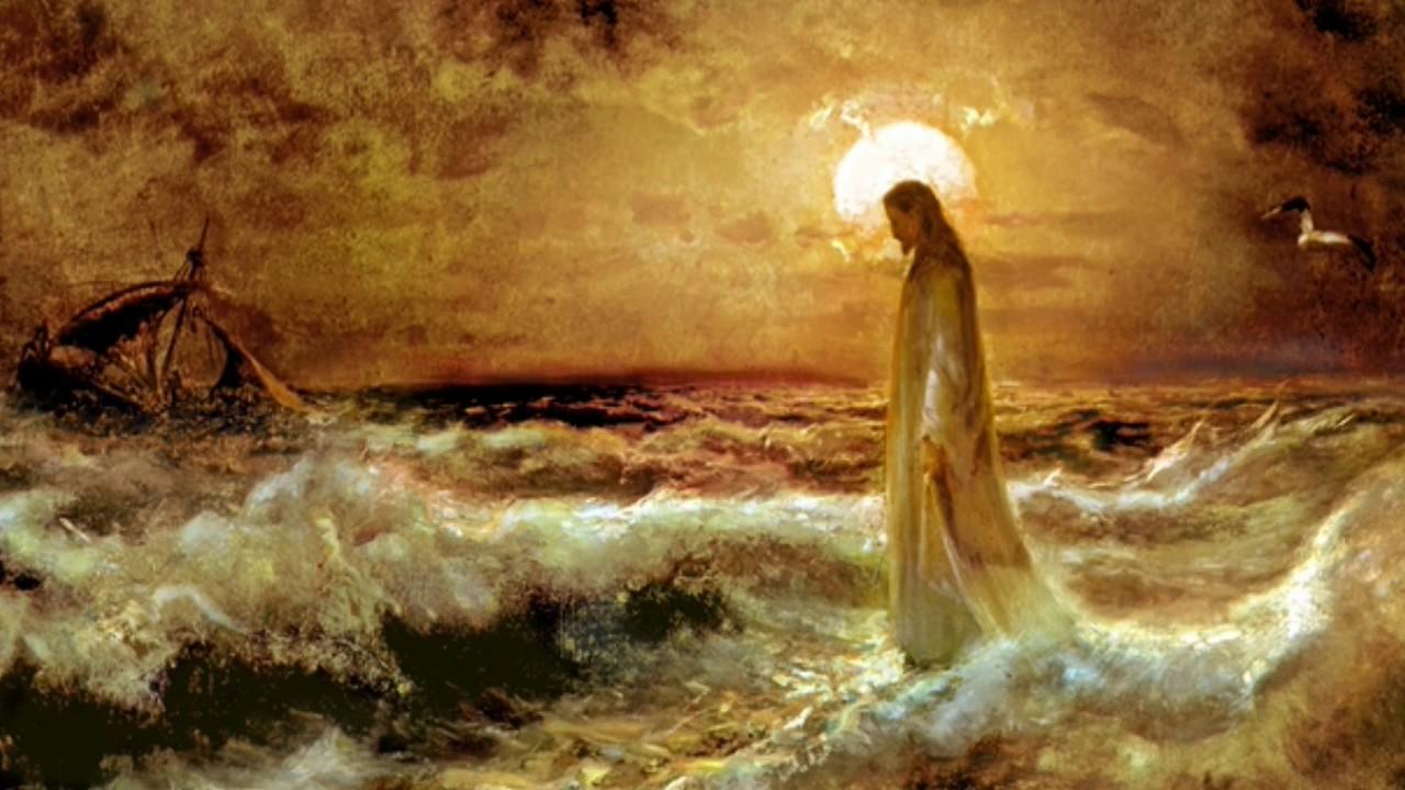 Картина Христос и едт по воде